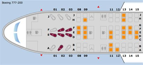 united 777 200 seat map boeing 777 200 seating chart united airlines