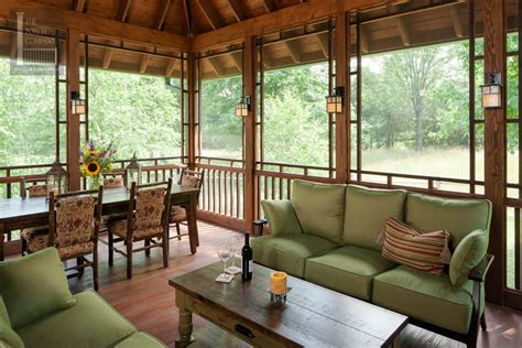 Screened Porch Beautifully Matches Home The Porch Screened Patio Designs