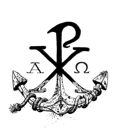 christian anchor tattoo designs my chi rho anchor design anchor