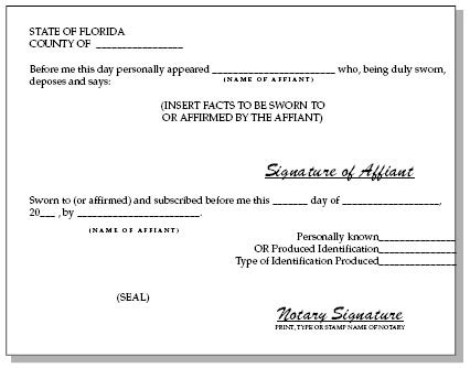Notary Public Florida Notary Template Florida