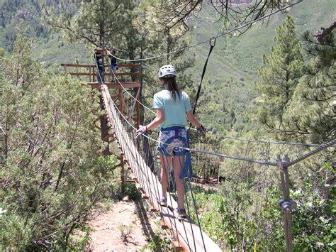 swinging bridge colorado zip line photos raft mesa verde train 4x4 tours zip