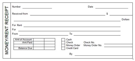 rent receipt template rent receipt templates word excel formats