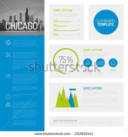 Simple Infographic Dashboard Template Flat Design Stock Vector 252616141 Shutterstock Infographic Dashboard Template