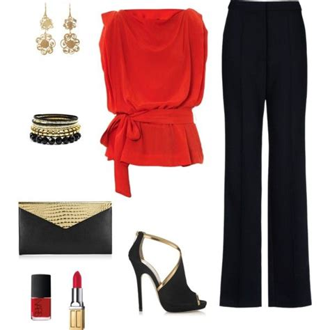 blue blouse for christmas party 17 office polyvore combinations you can copy fashionsy