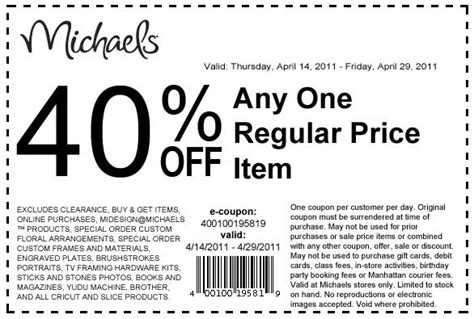 2015 printable michaels coupon 50 off michael coupon code release date price and specs