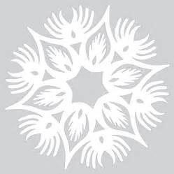 paper snowflake  wings pattern  cut