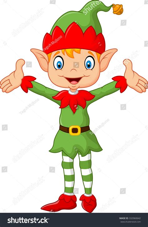 printable elf hands cute green elf boy costume hands up isolated on white