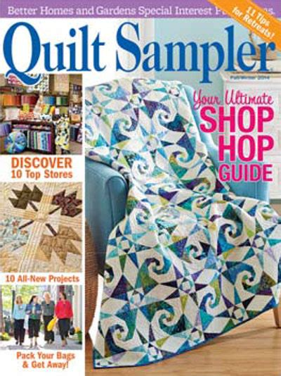 Quilt It For Magazine by Sewing Seeds Selected As Featured Shop In Better Homes And