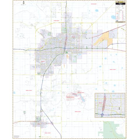 amarillo texas map city roll maps amarillo tx wall map