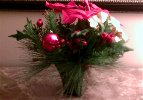christmas holiday silk flower pointsettia arrangement