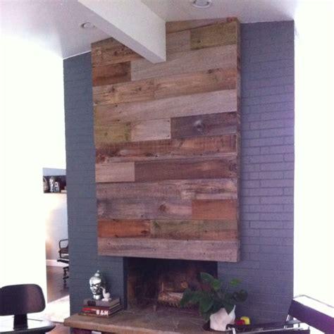 reclaimed wood fireplace home ideas