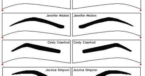 free eyebrow stencils stencils pinterest eyebrow