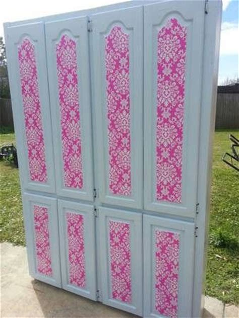 cabinet doors scrapbook paper and diy mod podge on