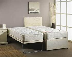 Guest Bed And Mattress 3ft Single Guest Bed 3 In 1 With Mattress Pullout Trundle