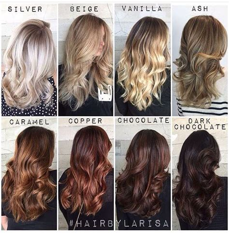 chart of haircolors hairstyle to shades hair brunettes and hair coloring