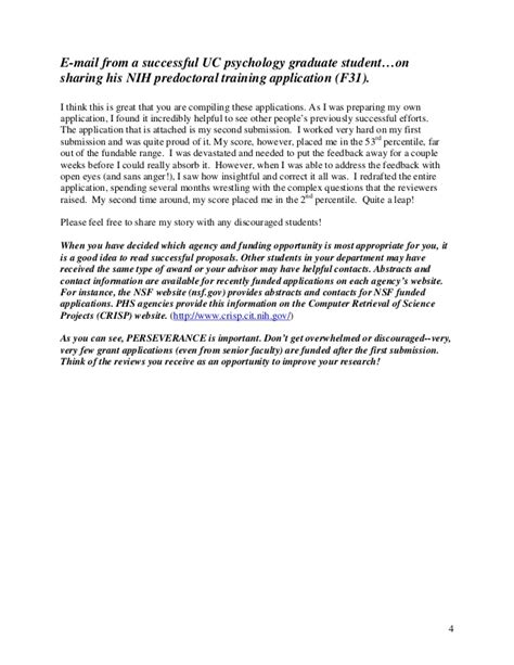 certification letter for predoctoral fellowships f31 to promote diversity preparing research proposals in psychology
