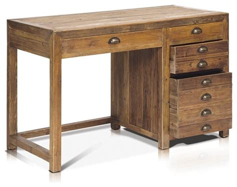 cabin creek corner l desk working desk with 4 drawers in reclaimed wood rustic