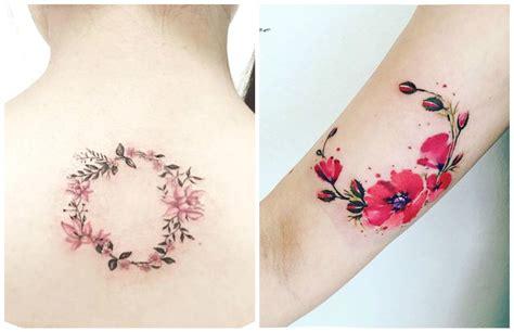 tatuaggi femminili fiori delicatissimi tatuaggi con ghirlande di fiori