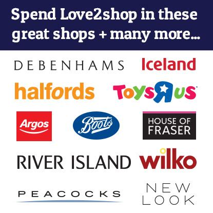 Love 2 Shop Gift Card - love2shop vouchers free delivery buy now use in 20 000 stores
