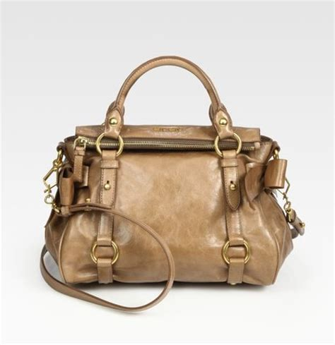 Valentino Laminated Vitello Bow Tote by Miu Miu Vitello Mini Bow Bag In Brown Cinnamon Lyst