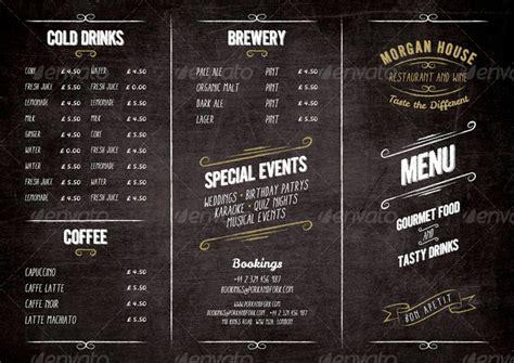 Blue Print Symbols food menu blackboard restaurant package by marnica