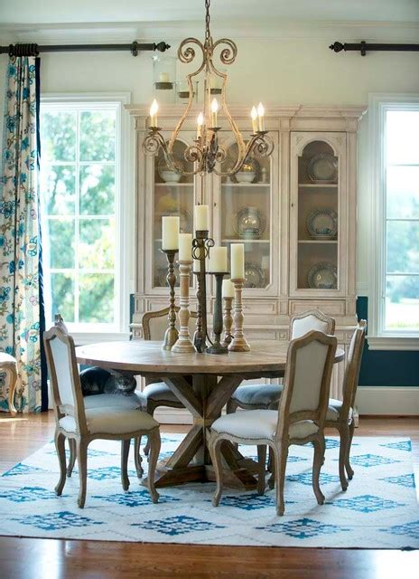 french country estate traditional dining room