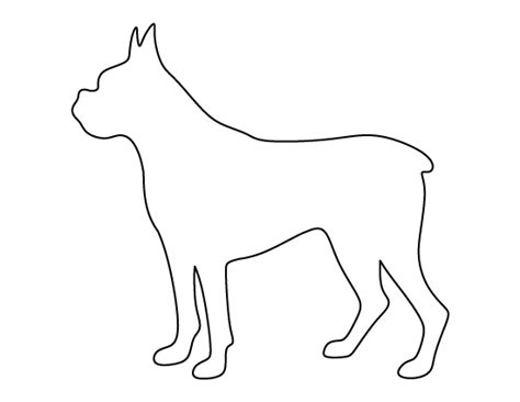 printable templates of dogs boxer dog pattern use the printable outline for crafts