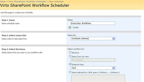 sharepoint scheduled workflow workflow scheduler for microsoft sharepoint best