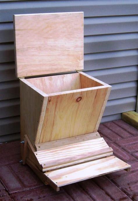 Build A Chicken Feeder free chicken feeder plans how to build a treadle feeder