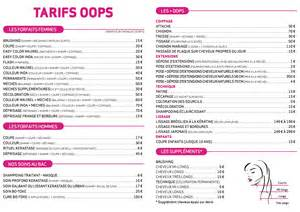 tarifs salons coiffure