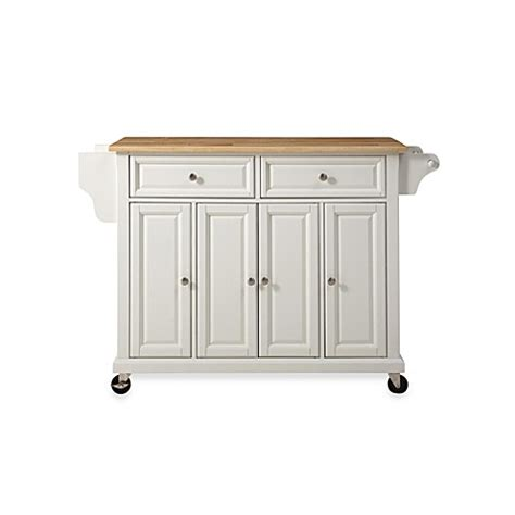 rolling kitchen island cart crosley wood top rolling kitchen cart island bed bath beyond