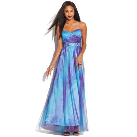 Dress Ombre jump juniors sleeveless ombre glitter dress in blue purple blue lyst