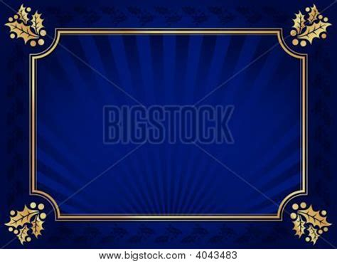 navy blue background with golden royal borders stock image and blue gold holly trimmed background vector photo bigstock