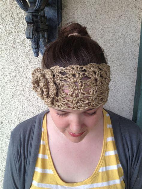 crochet pattern headband ear warmer with flower three sizes items similar to crochet pattern melanie headwarmer lace