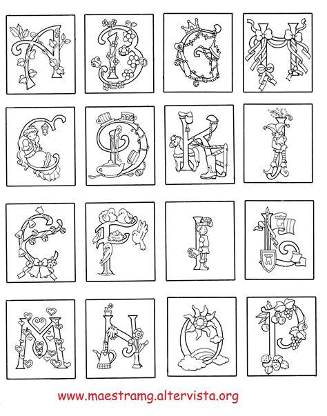 lettere miniate da colorare nuovo disegni per bambini lettere miniate da colorare
