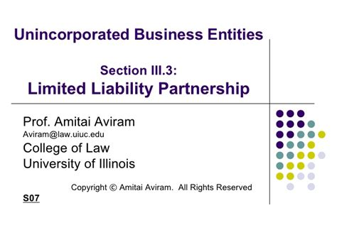 For Business 1 Rachmell Vazokiray Limited unincorporated business entities section limited liability partners
