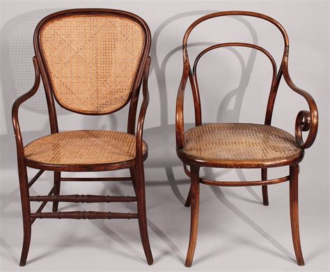 Bentwood Armchair by Lot 184 Lot Of 2 Thonet Bentwood Armchairs