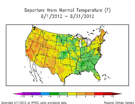 average december temperature us map synoptic discussion august 2012 state of the climate