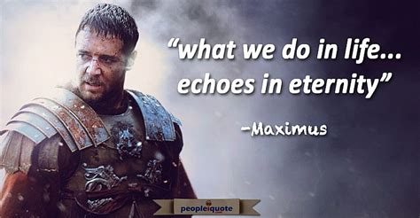 what we do in life echoes in eternity tattoo what we do in echoes in eternity maximus