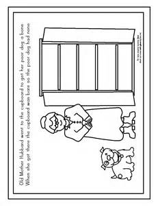 coloring page for old mother hubbard sketch template