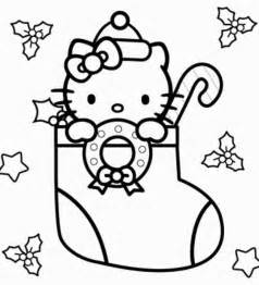 hello kitty christmas coloring pages happy holidays