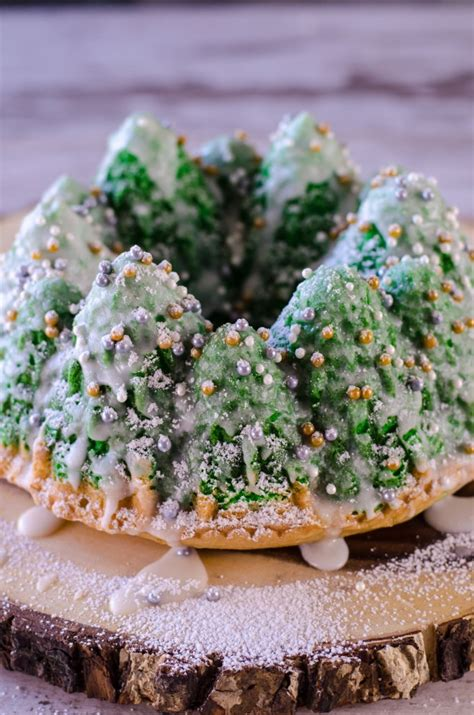 simple recipe for nordic ware christmas holiday tree bundt pan snowy tree cake go go go gourmet