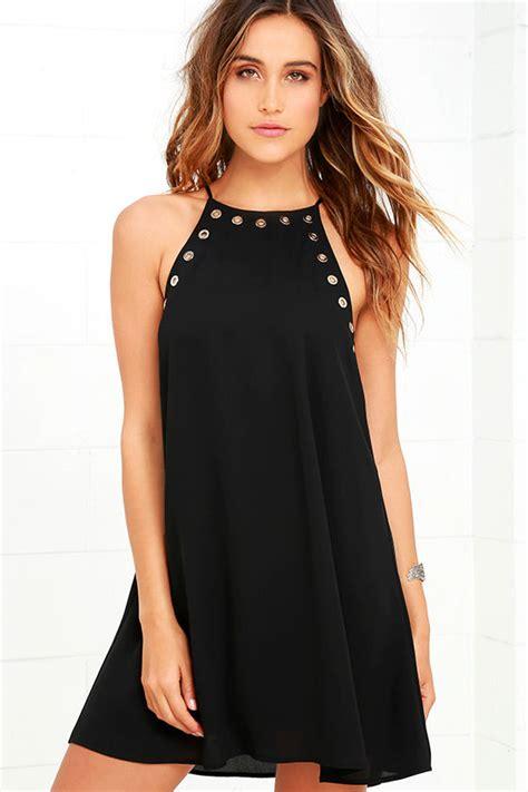 Amara Dress Casual lbd sleeveless black dress black grommet dress 49 00