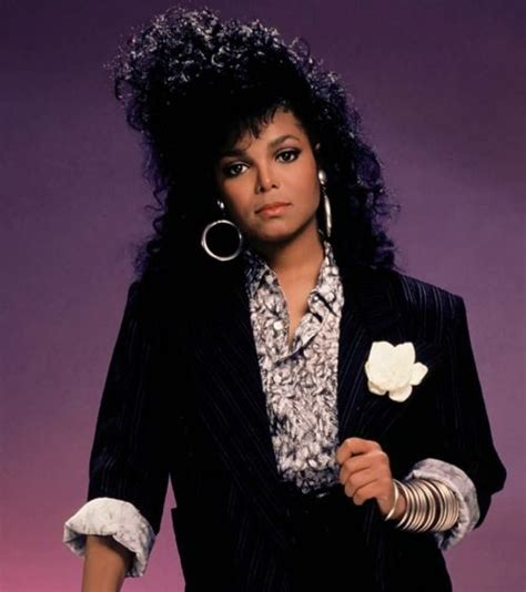 Janet Jackson Long Layered Hairstyles From The 80s And 90s | school essence of del