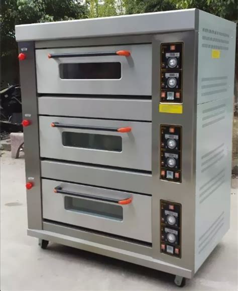 Gas Baking Oven Low Pressure 3 Deck 6 Loyang Rfl 36ss commercial 3 deck 6 trays gas baking oven with steam with ceramic buy industrial gas