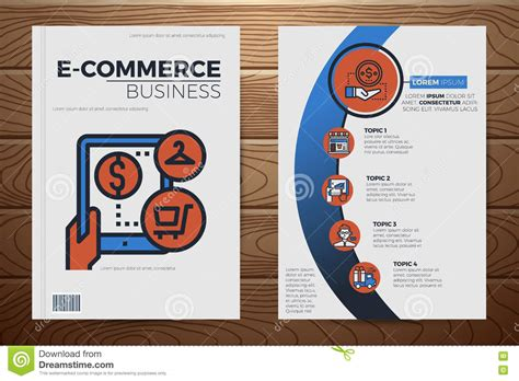 e commerce business e commerce business book cover template stock vector