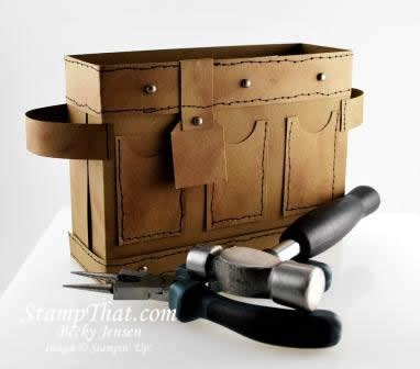 Handmade Tool Belt - handmade tool belt box made by stin up demonstrator