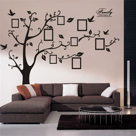 home decor vinyl wall art huge family photo frame tree vinyl removable wall stickers