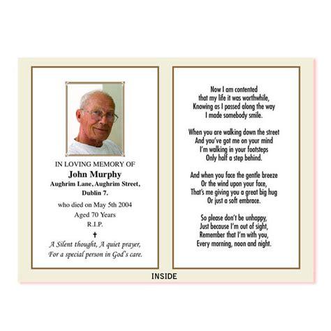 In Memoriam Card Wp2print Demo Memorial Cards For Funeral Template