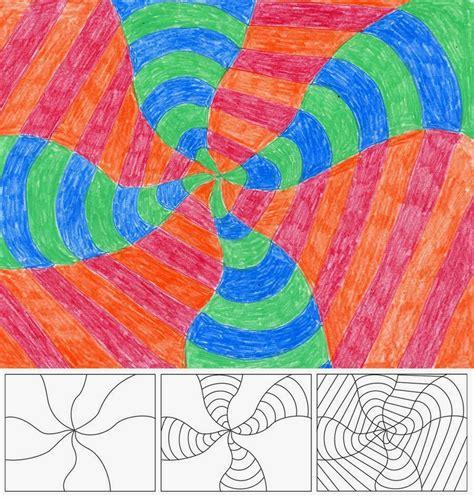art projects op art swirl art projects for kids
